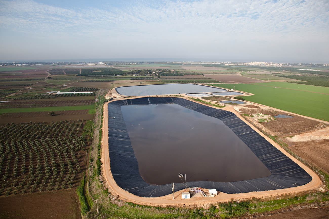 Lining of Beit HaEmek reservoir